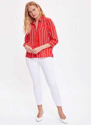 DeFacto Gömlek Kırmızı